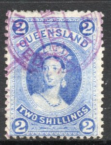 Queensland: 1882 QVI 2/- SG 152 used (fiscally?)