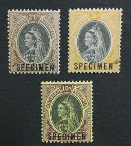 MOMEN: SOUTHERN NIGERIA SG #7s-9s SPECIMEN MINT OG H / 1NH(5sh) LOT #191481-525