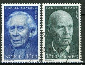 Norway 1997, Sæverud & Vesaas set VFU, Mi 1261-1262 cat 3,5€