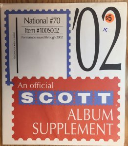 Scott National #70 Item #100S002 Album Supplement (through 2002)