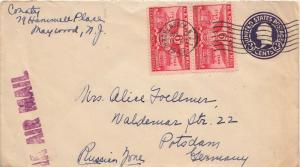 Airmail Issues 6c Alexandria Bicentennial (2) on 3c Washington Circular Die ...