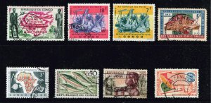 CONGO REPUBLIC STAMP USED STAMP COLLECTION LOT