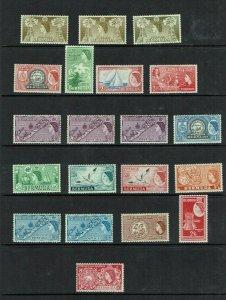 Bermuda: 1953 Queen Elizabeth definitive, short set to 5/-, Mint