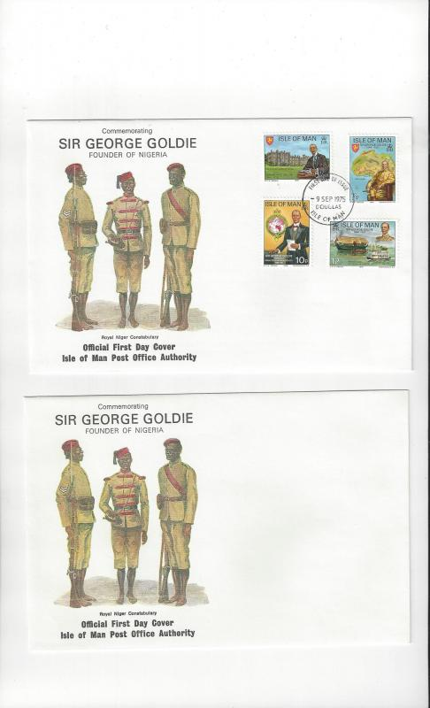 Isle of Man FDC 70-73  Sir George Goldie  Official Cover
