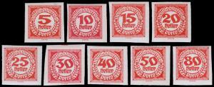 Austria Scott J93-101 (1920-21) Mint LH VF Complete Set B