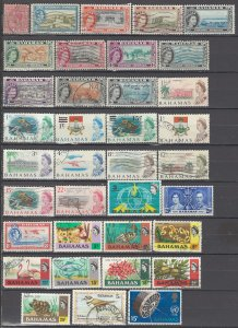 COLLECTION LOT OF #997 BAHAMAS 36 STAMPS 1912+ CV+$34