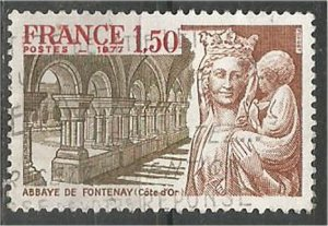 FRANCE, 1977 used 1.50fr, Fontenay Scott 1545