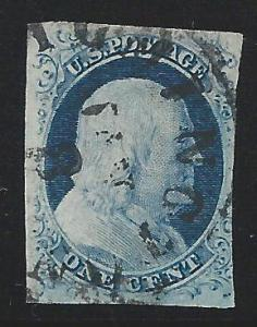 Scott 7, Used, 1851 Issue