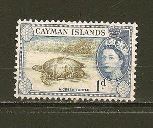 Cayman Islands 137 Green Turtle Mint Hinged