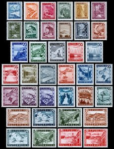 Austria Scott 455-481, 483-488, 496-499 (1945-46) Mint LH VF Complete Sets J