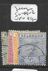 MALAYA SELANGOR   (P1007B)  TIGER   1C-5C  SG 49-52  VFU