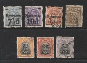 Rhodesia a small lot of pre 1937 used