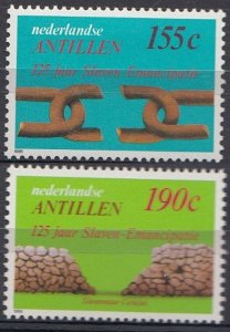 1988 Netherlands Antilles 638-639 Abolition of slavery 4,20 €