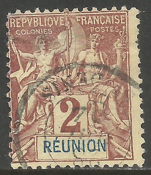 FRANCE REUNION 35 USED THIN Z6956-1