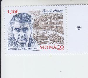 2017 Monaco Armand Lunel Writer  (Scott 2904) MNH
