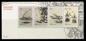 TONGA QEII SG MS1584, 2003 Abel Taman commemoration mini sheet, NH MINT.