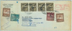 84257 - POSTAL HISTORY - COVER  from USA to CHILE forwarded to SWITZERLAND 1956