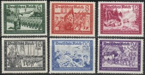 Stamp Germany Mi 773-8 Sc B151-8a 1941 WWII Postal Office Fellowship Reich MH