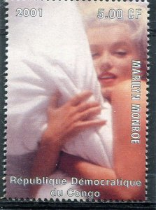 Congo 2001 MARILYN MONROE 1 value Perforated Mint (NH)