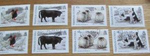 Island Livestock 11 Tristan Da Cunha Stamps Set MNH & Used 1997