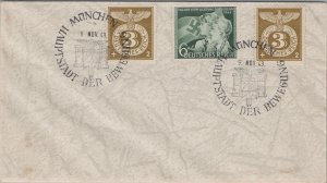 GERMANY POSTAL HISTORY PHILATELIC COVER 3RD REICH SPECIAL CANCEL YR'1943