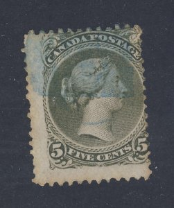 Canada Large Queen stamp #26-5c Used VG/F Guide Value= $80.00