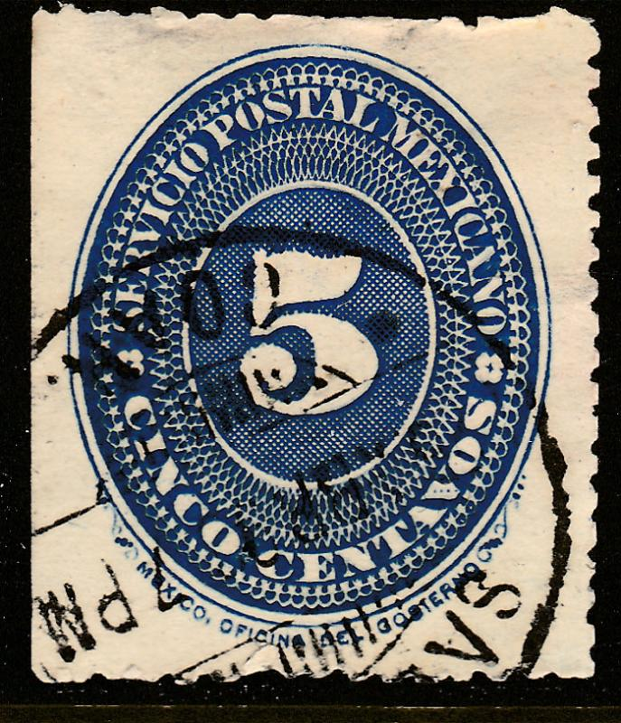 MEXICO 216, 5cts LARGE NUMERAL WATERMARKED, USED. F-VF. (133)