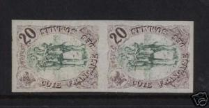Somali Coast #40 XF Mint Imperf Pair