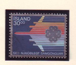 Iceland Sc 580 1983 World Communications Year stamp used