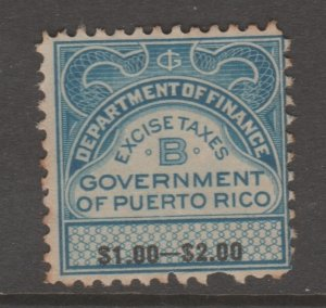 Puerto Rico Revenue fiscal Cinderella stamp 10-15- tnx -- as seen