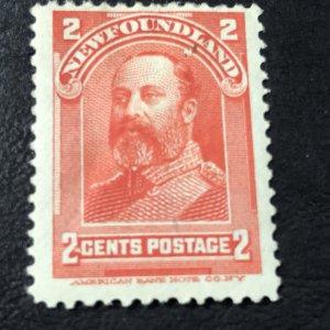 NEW FOUNDLAND # 82-MINT/HINGED----VERMILLION----1898