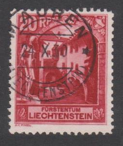 Liechtenstein Courtyard of Vaduz Castle 20Rp cancelled T2 SG#99B SC#97