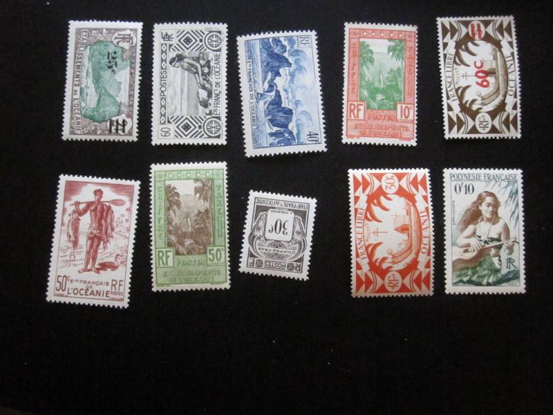French Polynesia Lot #17 Mint Hinged- (X9) I Combine Shipping