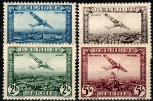 Belgium #C1-4 F-VF Unused CV $6.95 (X915)