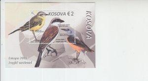 2019 Kosovo Birds Europa SS (Scott NA) MNH