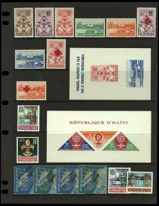 Haiti 1958/63 small range of sets and sheetlets to include '58 Brussels Stamps