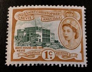 St Christopher-Nevis Scott 121 QEII Definitive One Cent-Mint
