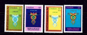 Zambia 236-39 MNH 1981 Communications and World Health Organization