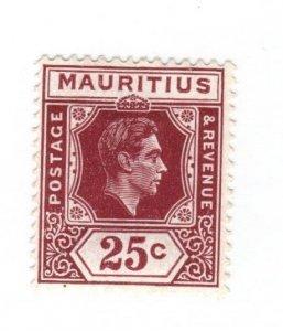 Mauritius #218 MH - CAT VALUE $6.00