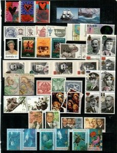 Australia Scott 1422 // 1474 (1995 Issues) - Catalog Value $83.20