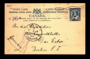 1906 Toronto Postal Card to Berlin Germany - L27831