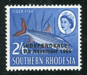 RHODESIA; 1965 Independence Optd. QEII Pictorial issue MINT MNH 2s. 6d. value