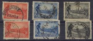 Australia - 1934 Victoria Set of Both Perfs Used
