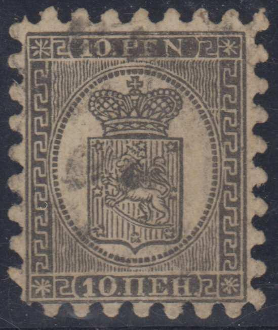 FINLAND Sc 13d Serpentine I THICK LAID PAPER USED F,VF SCV$800.00
