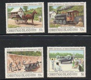 Christmas Island Sc 218-21 1988  Settlement of Island stamp set mint NH