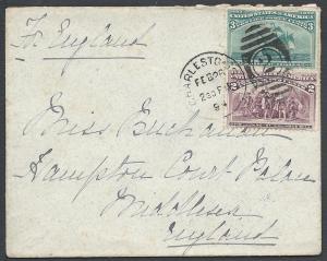 Scott 231, 232, Charleston SC to England, 1893 Columbian ...