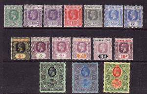Sierra Leone-Sc#122-36-unused hinged short set [includes #123a] to the 5sh-KEVII