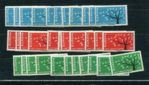 D059888 Europa CEPT 1962 Tree with 19 Leaves Wholesale 10 Series MNH Turkey