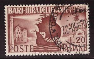 Italy Scott 542 Used 1950 Tartan ship stamp