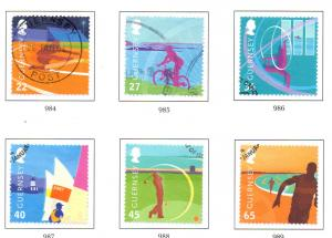 Guernsey Sc 795-800 2003 Island Games stamp set used